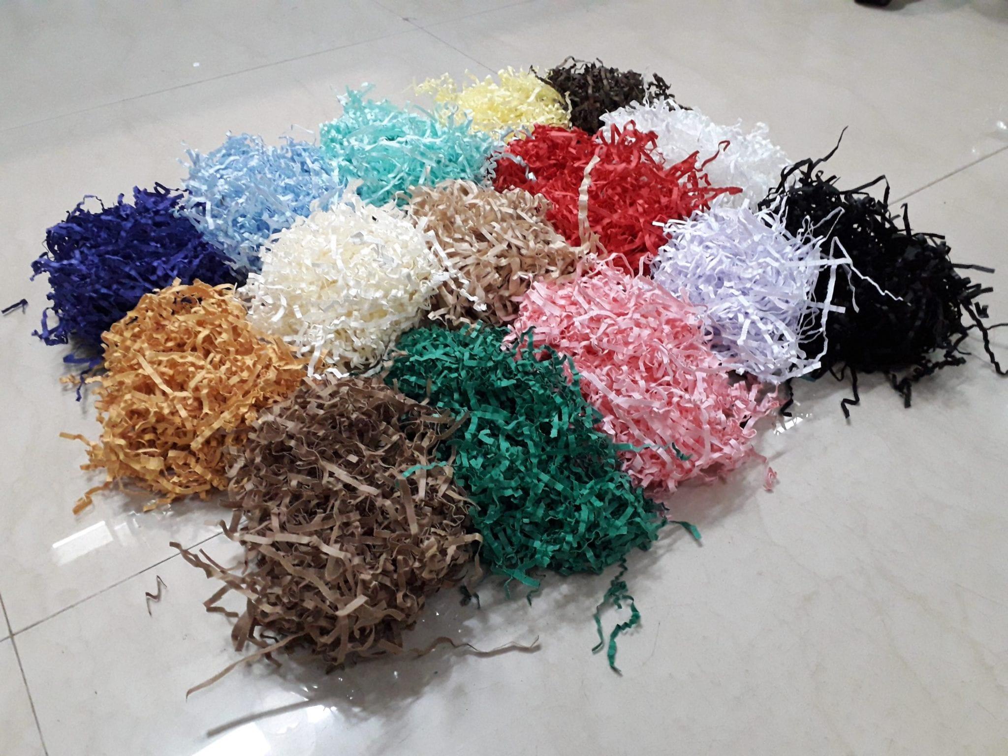 Shredded paper all colours