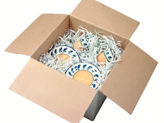 shredded paper filler in box